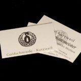 Visitenkarte Goldschmiede Kurzweil